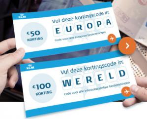 Code voor 100 euro korting op intercontinentale bestemmingen