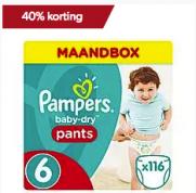 Pampers 40% korting bij Wehkamp op donderdag 18 januari