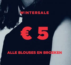 Sale Mango alle blouses en broeken voor €5
