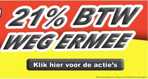Drankgigant BTW actie met 21% korting