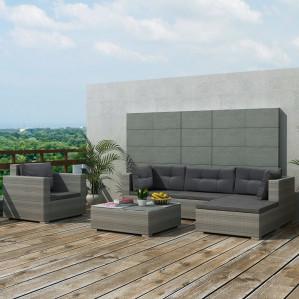 vidaXL 17-delige loungeset grijs voor €477,99