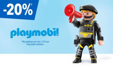 20% korting op alle playmobil