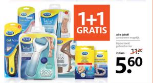 Alle producten van Scholl 1+1 gratis