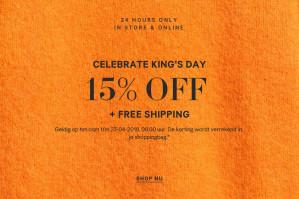 15% korting + gratis verzending