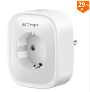BlitzWolf® BW-SHP2 WIFI Smart Socket EU-stekker 220V 16A voor €9,19