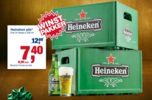 Krat Heineken pils voor €8,95