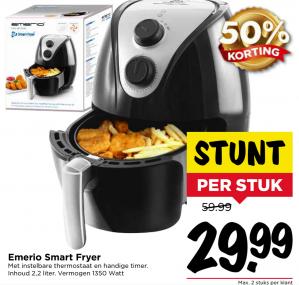 Emerio Smart Fryer 2.2 lt voor €29,99