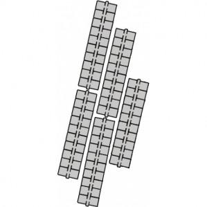 1 punt kleurstrips grijs P6 (641), 10 stuks voor €1,99