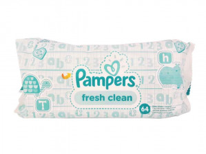 Pampers billendoekjes Sensitive of Fresh Clean 5 pack voor €1,50