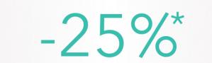 25% korting op diverse geselecteerde producten