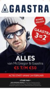 McGregor en Gaastra stores sale tot €50 + 3 halen = 2 betalen