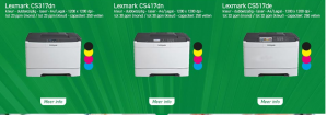 Lexmark CS317dn printer voor €59,95 en meer printers met hoge korting