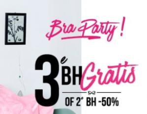 Hunkemöller sale met de 3de BH gratis of de 2de 50% korting
