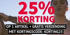 code voor 25% korting + gratis verzending