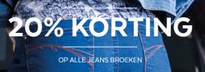 Alle jeansbroeken met 20% korting bij Miss Etam