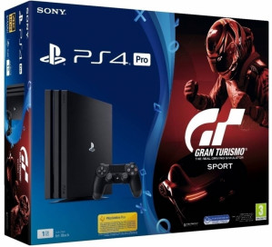 Playstation 4 Pro (Black) 1TB + Gran Turismo Sport+Call of Duty WWII voor €336.99