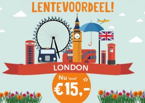 Vliegtickets retourvlucht van Groningen naar London voor €30