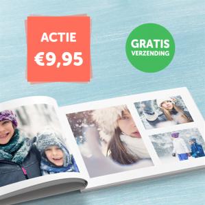 Hardcover A4 Fotoboek met 24 pagina's voor €9,95