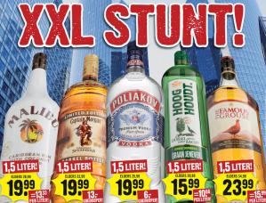 Diverse 1,5 liter flessen sterke drank vanaf €15,99