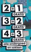HEMA 2+1, 3+2, 4+3 gratis ook op de lopende sale