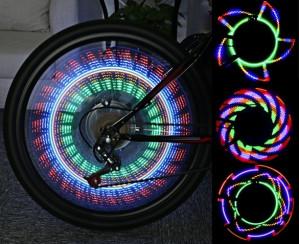 Gekleurde LED Fietsverlichting  voor €12,95