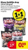 Klene drop 2 zakken voor €0,99
