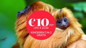 Entreetickets Apenheul voor €10,70