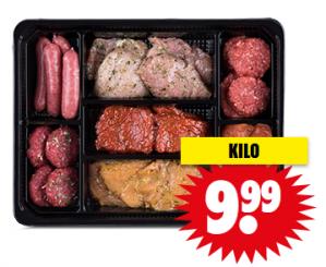 Luxe gourmetschotel 1 kilo voor €9,98
