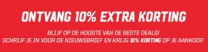 10% extra korting op je bestelling