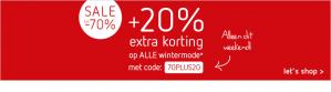 20% extra korting op de sale van 70%