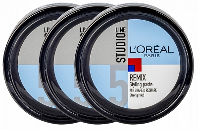 Loreal Paris Studio Line Remix Styling Paste Strong Hold 3 voor €2,82