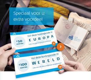 € 50 of € 100 korting op KLM Package Deals