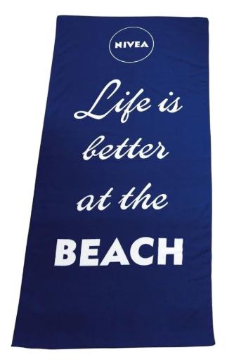 NIVEA strandhanddoek bij 2 NIVEA  producten Gratis