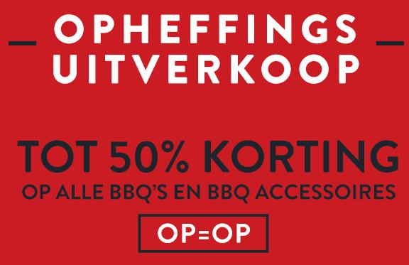 Voorkeur Tot 50% korting op barbecues en accessoires AZ14