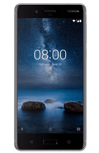 Nokia 8 Dual Sim 64GB grijs voor €314