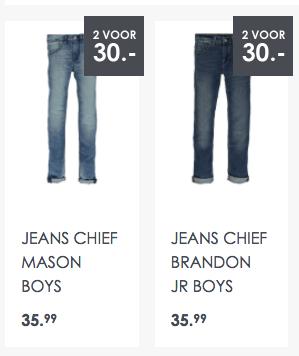 Jeanscentre 2 broeken voor boys voor €30 ( €15 per stuk )
