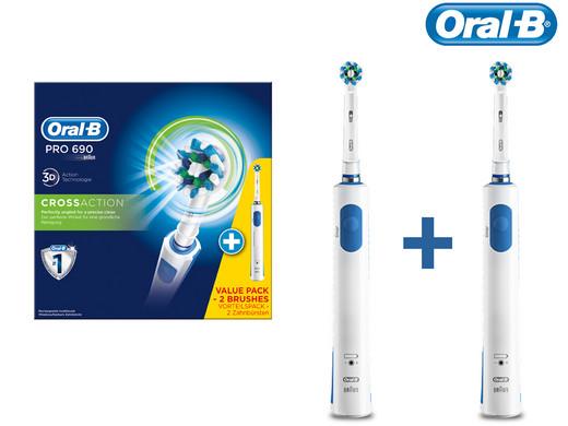 Oral-b pro 690 elektrische tandenborstel - cross action duo voor €34,95