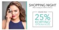 Douglas Shopping Night met 25% korting