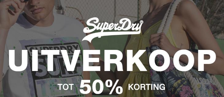 Superdry sale tot 50% korting