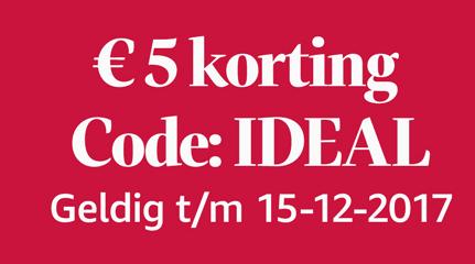 Kortingscode Amazon voor €5 korting