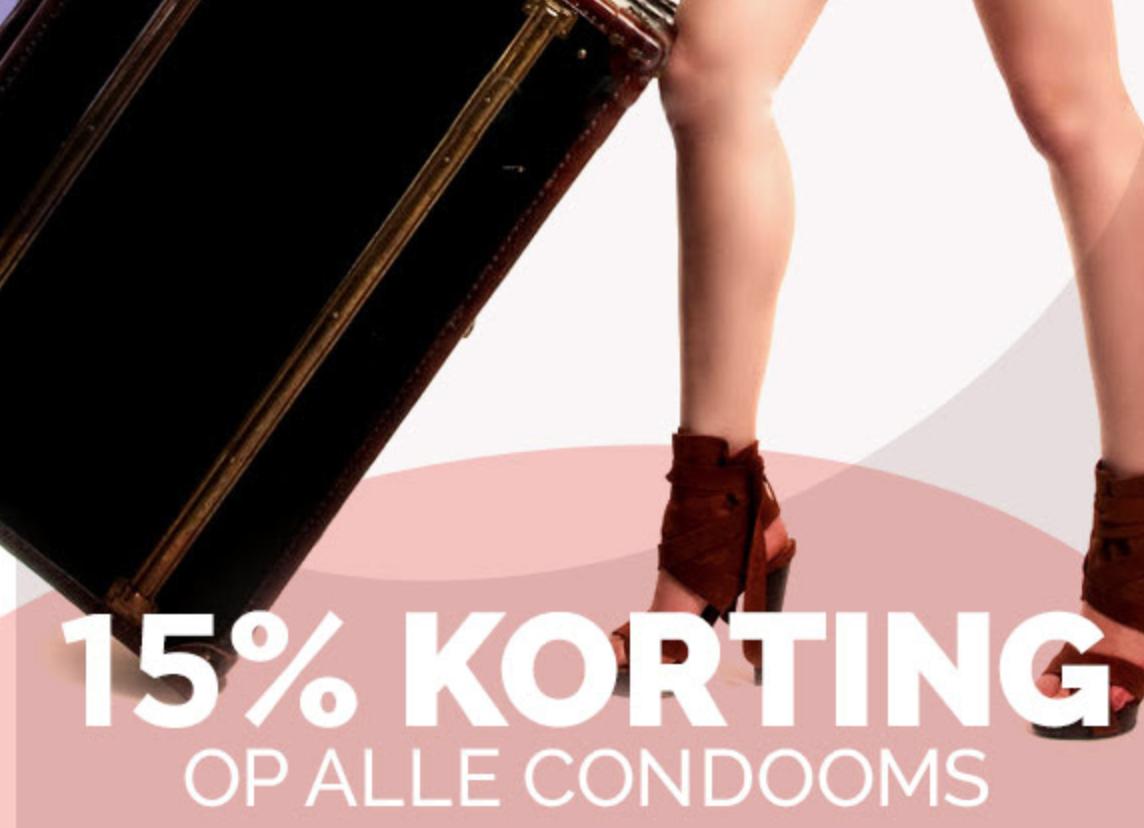 15% korting op condooms