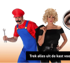 Verschillende carnavalskleding en kostuums met flinke korting