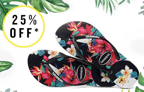 25% extra korting op alle Havaianas