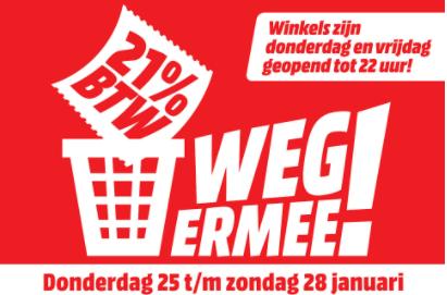 Media Markt BTW-dagen (ook op outlet producten)