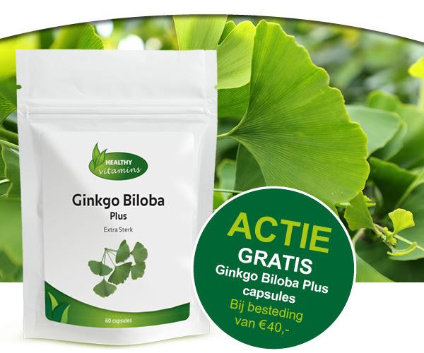 Gratis zakje Ginkgo Biloba Plus capsules ter waarde van € 16,95