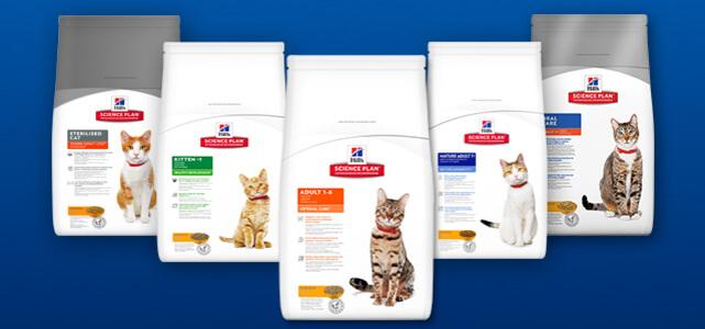 Probeer Hill's™Science Plan™ kattenvoeding voor €12,10 dmv cashback