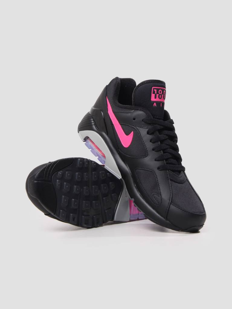 Nike Air Max 180 Black Pink Blast Wolf Grey voor €98