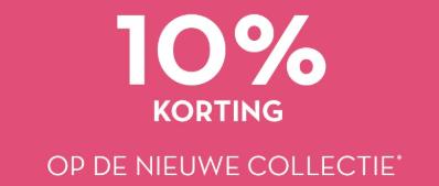 10% korting op de nieuwe collectie