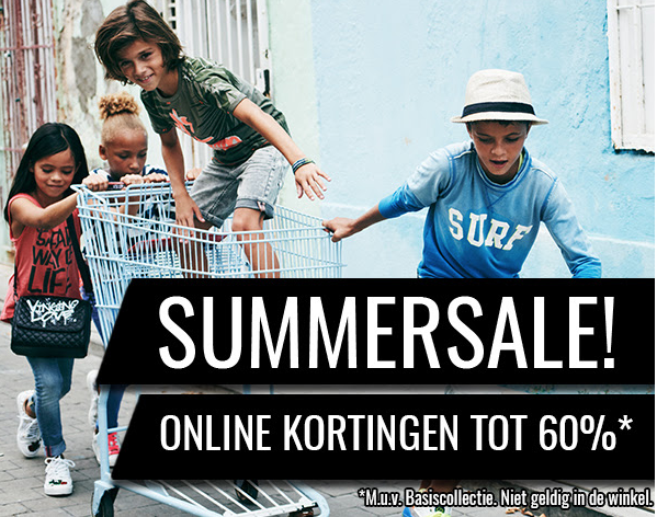 Tot 60% korting op de summersale van The Kids Republic