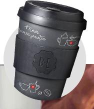 Gratis Douwe Egberts koffie mok twv 12,95 euro